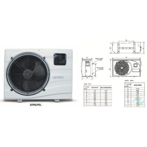Optima medence fűtő-hűtő hőszivattyú 5,4kW-os teljesítménnyel