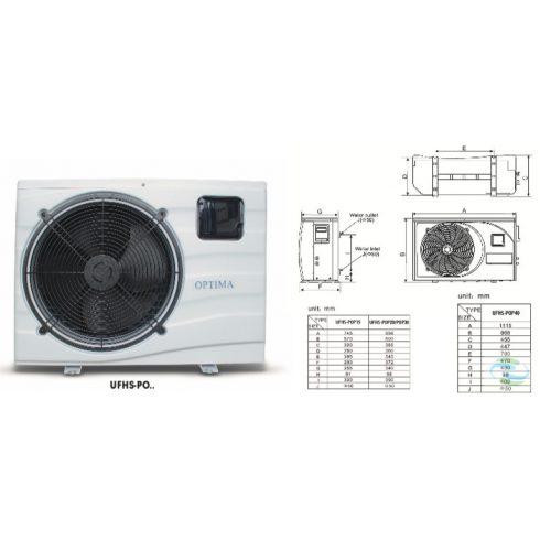 Optima medence fűtő-hűtő hőszivattyú 10kW-os teljesítménnyel